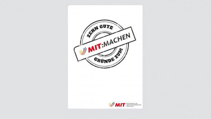 Flyer: 10 gute Gründe zum MIT:MACHEN
