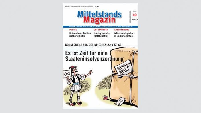 Mittelstandsmagazin, Ausgabe 10/2015