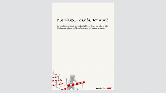 Flyer: Die Flexi-Rente kommt